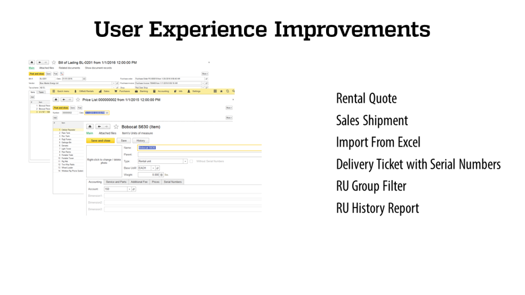 User Expirience - RigER - Oilfield Rental Software