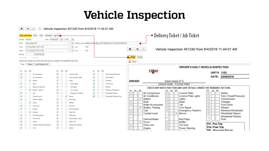 Vehicle Inspection - RigER Safety First 3.2