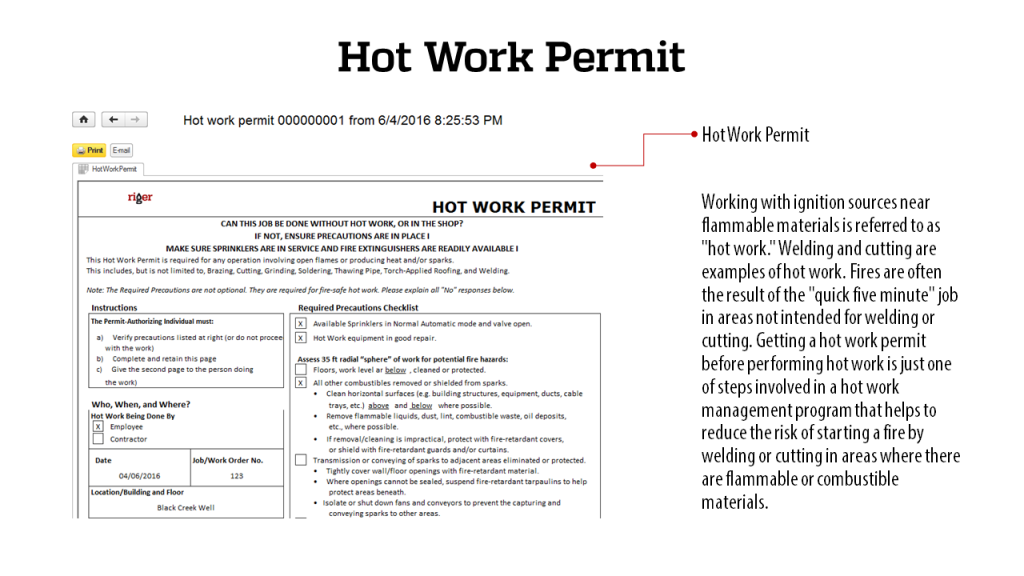 Hot Work Permit - RigER Safety First 3.2