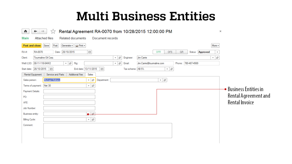 Multi Business - RigER - Oilfield Rental Software