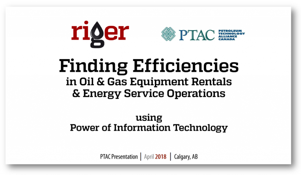 RigER Presentation at PTAC - Finding Efficiencies